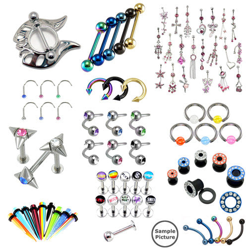 Top Mix 25pc Body Jewelry Assortment