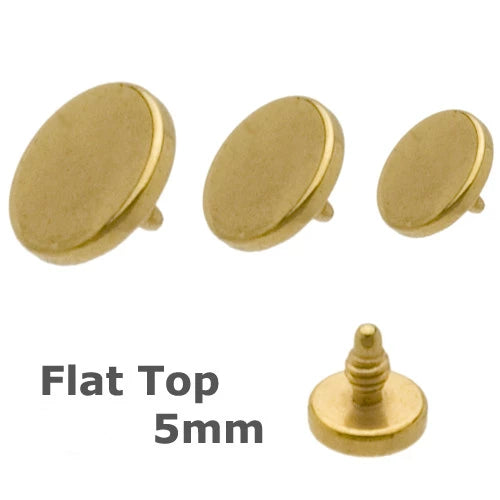 5mm Gold Plated Flat Disc Anchor Top