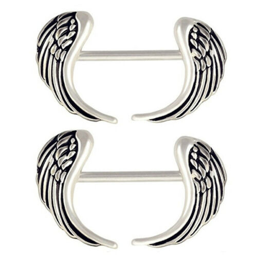 Steel Curved Wing Nipple Barbell