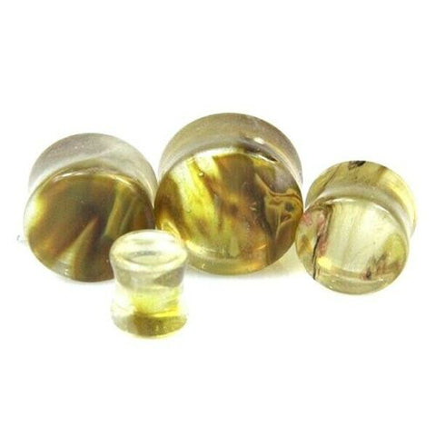 Tiger Skin Quartz Saddle Plugs