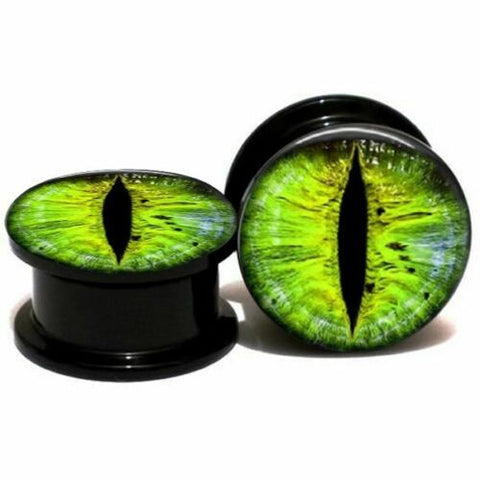 Black Acrylic Green Monster Eye Stash Plug
