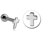Steel Tiny Cross Tragus Barbell