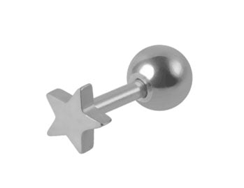 Steel Star Tragus Barbell