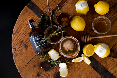 Honey Bourbon Thyme Punch