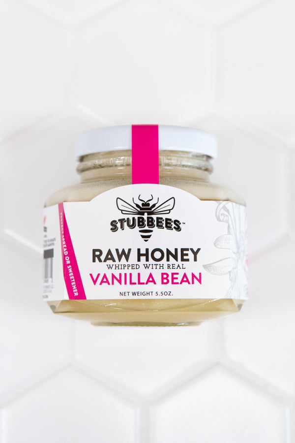 VANILLA BEAN Whipped Raw Honey