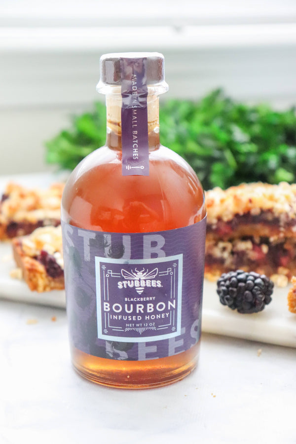 BLACKBERRY Bourbon Infused Honey