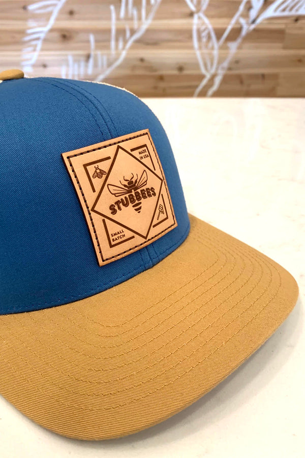 Small Batch Trucker Hat [blue/tan]