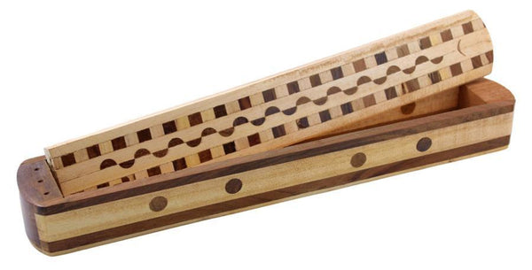 "12"" Multi-Tone and Two-Tone Wood Stick Box Incense Burner"