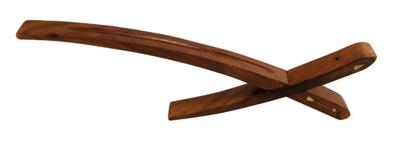 "12"" Wood X-Style Incense Holder"