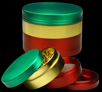 Grinder 4pc Metal Rasta