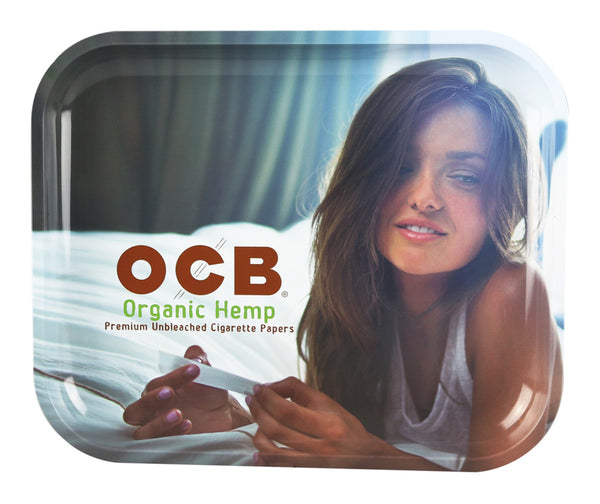 OCB Metal Rolling Tray - Organic Hemp Large