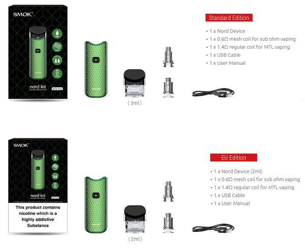 Smok® Nord Starter Kit Refillable Vaporizer