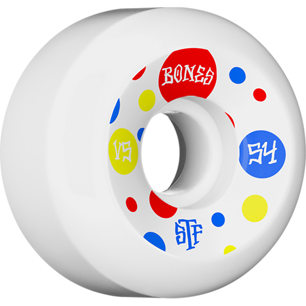 Bones Wheels STF Dots - 54mm - White