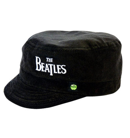 The Beatles Black Cord Military Style Hat