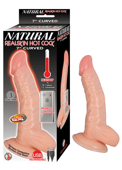 Natural Realskin Hot Cock Curved 7""