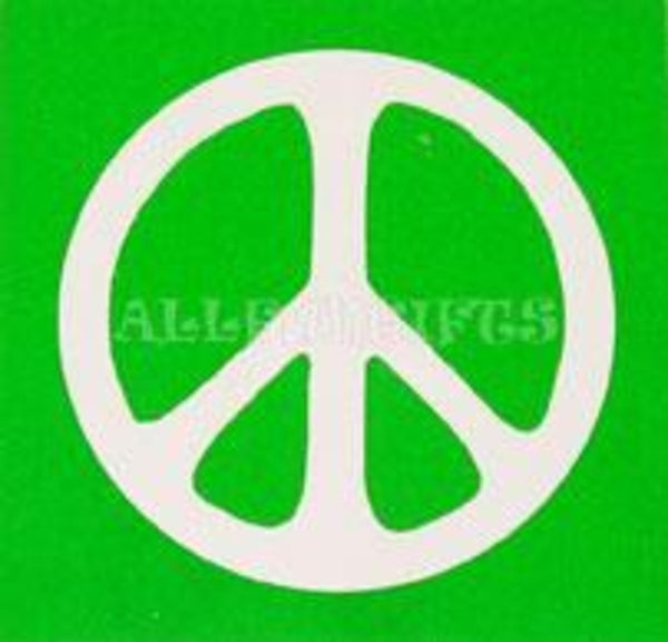 "3"" Peace Sign Bumper Sticker"
