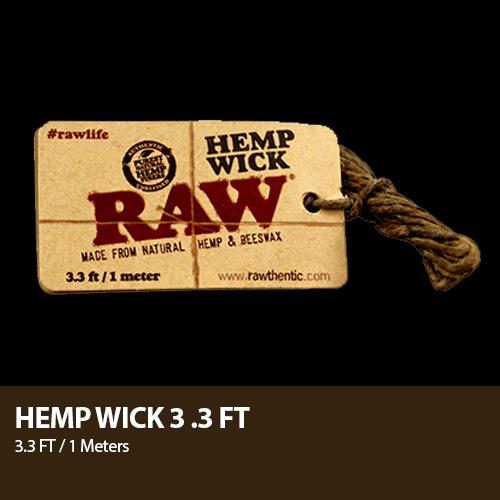Raw Hempwick - Multiple Sizes