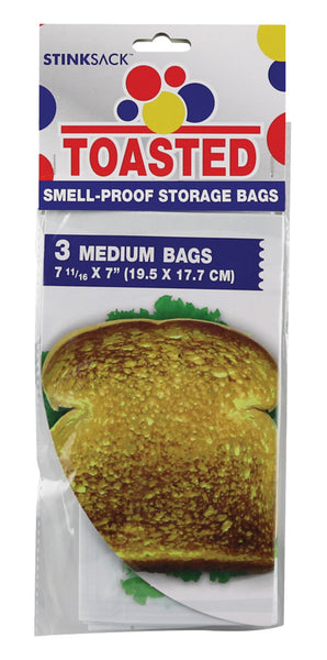 Stink Sack Toasted Smell-Proof Storage Bags - 3pk