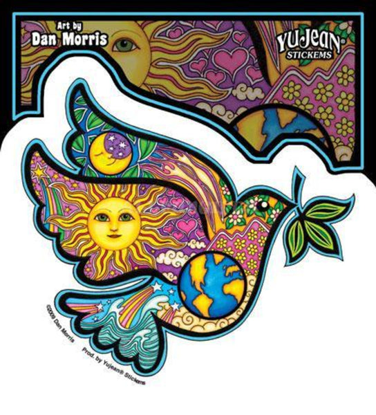 "4.5""x4"" Dan Morris Peace Dove Indoor/Outdoor Sticker"