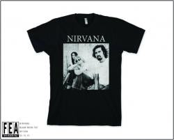 Nirvana B&W Sitting Photo Mens T-Shirt