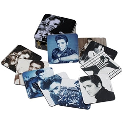 Elvis Presley 10 pc. Coaster Set with Collector Tin