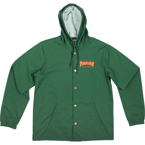 Thrasher Magazine - Mag Flame Logo Coach Jacket - Green