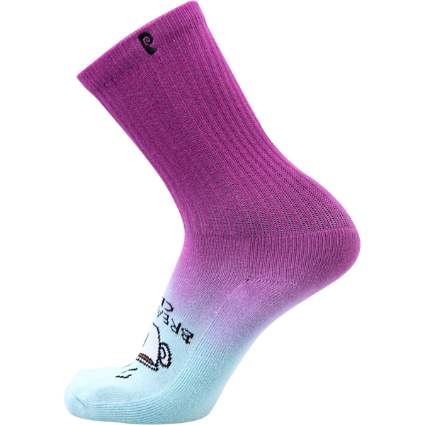 Psockadelic Breakfast Club Crew Socks - Purple