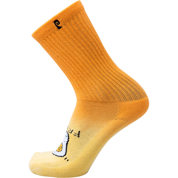 Psockadelic Fried Egg Crew Socks - Orange