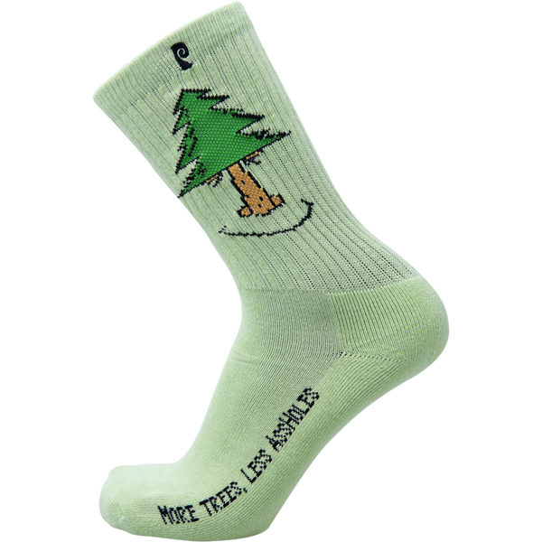 Psockadelic More Trees Crew Socks - Green
