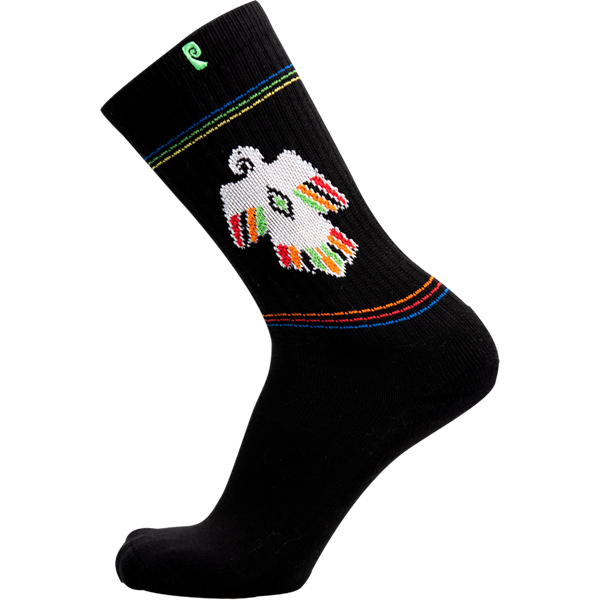 Psockadelic Slash Thunderbird Crew Socks - Black