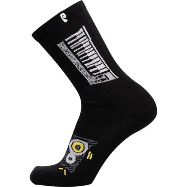Psockadelic Windsor James Keys Equalizer Crew Socks - Black