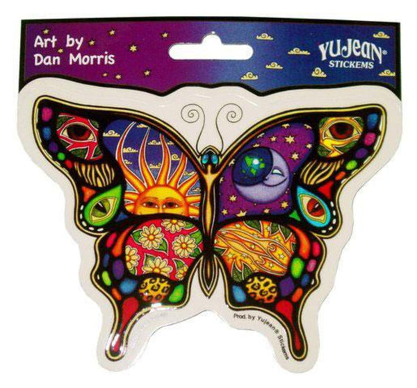 "5"" Dan Morris Night & Day Butterfly-Shaped Sticker"