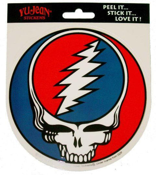 "5"" Round Grateful Dead Steal Your Face Sticker"