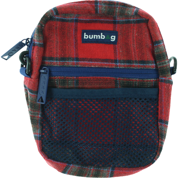 Bumbag Compact Bag - Red Flanders Red Plaid