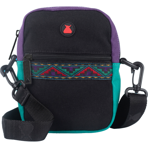 Bumbag Compact Bag - Java Black w/ Aztec Ribbon