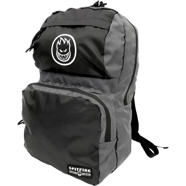 Spitfire - Burn Division Nylon Packable Backpack Bag - Black / Grey