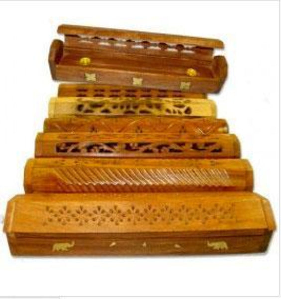 Carved & Inlayed Coffin Incense Burner