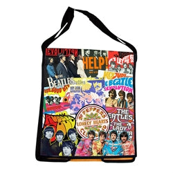 The Beatles Recycled Messenger Tote