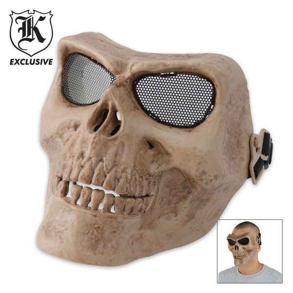Airsoft Military Skull Facemask Bone Color