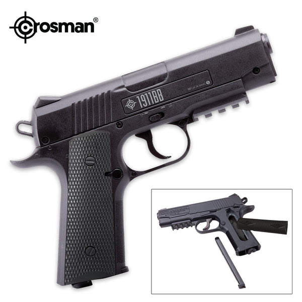 1911 CO2 Powered Black Semi-Automatic BB Air Pistol