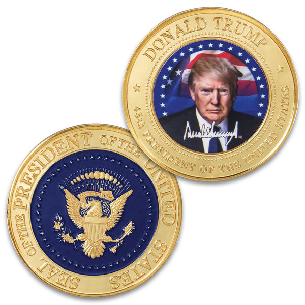 Donald Trump Full-Color Presidential Coin