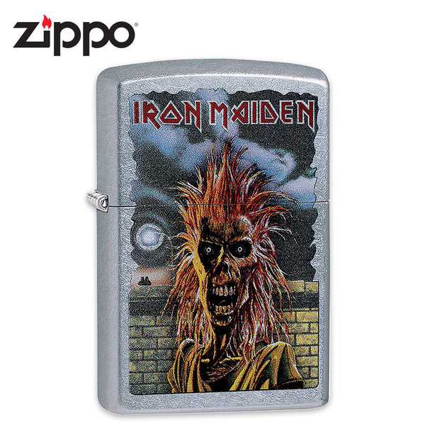 Iron Maiden Zippo Lighter - Eponymous Debut Album Cover Art - Street Chrome
