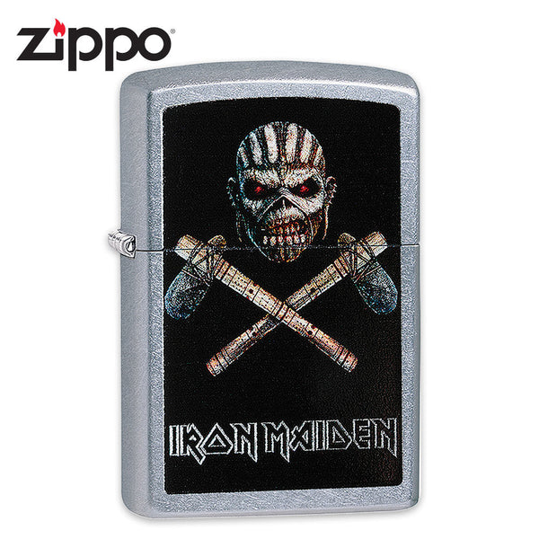 "Iron Maiden Zippo Lighter - Mayan Eddie ""Book of Souls"" Album Art - Street Chrome"