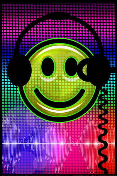 Audio Smile Blacklight Poster