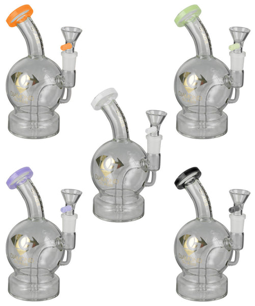 Diamond Glass Planet Water Pipe - 6.5""