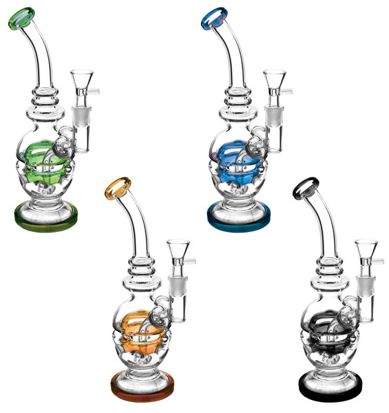 Faberge Egg Swiss Perc Waterpipe - 11""