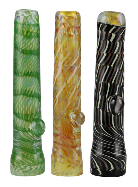 "Latty Chillum Taster w/ Flat Mouthpiece - 3.6"" - Asst. Colors"