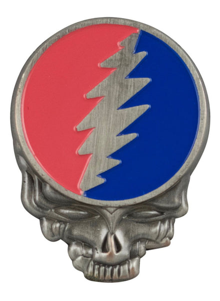 "Grateful Dead SYF Enamel Hat Pin - Steel / 1.5""x1.25"""