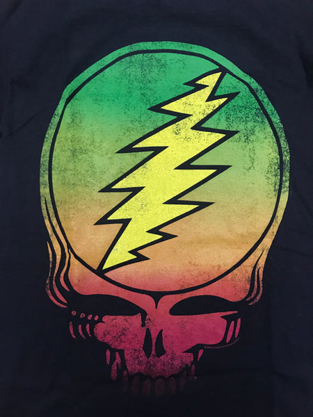 Grateful Dead Vintage Rasta Colors Logo T-shirt