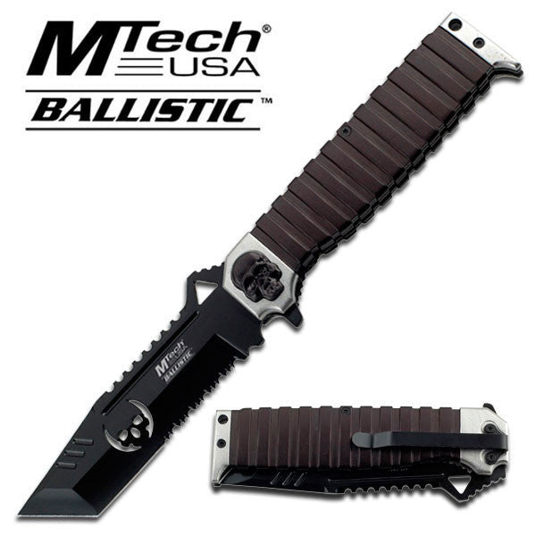 MTech Skull Black Assisted Folding Knife